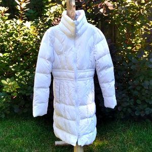white jacob puffer coat